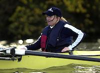London, GREAT BRITAIN. Oxford University Boat Club Trail VIIIs.Putney to Mortlake. Health and Safety.Health -  cox Megan Patrick.. Varsity: Boat Race  [Mandatory Credit: Peter Spurrier: Intersport Images]