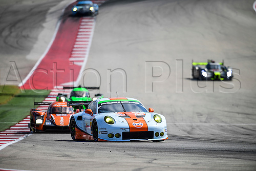 16.09.2016. Circuit of The Americas, Austin, Texas, USA. WEC 6 Hours Qualifying.  #86 GULF RACING (GBR) PORSCHE 911 RSR LMGTE AM MICHAEL WAINWRIGHT (GBR) ADAM CARROLL (GBR) BENJAMIN BARKER (GBR)