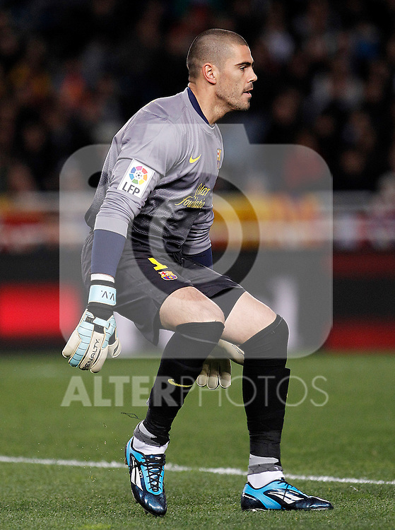 FC Barcelona's Victor Valdes during La Liga match.January 19,2013. (ALTERPHOTOS/Acero)