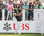Sam Brazel of Australia tees off the first hole during the 58th UBS Hong Kong Golf Open as part of the European Tour on 10 December 2016, at the Hong Kong Golf Club, Fanling, Hong Kong, China. Photo by Marcio Rodrigo Machado / Power Sport Images
