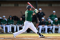 First baseman Zach Krider (24) of the University of South Carolina Upstate Spartans bats in a game against the Citadel Bulldogs on Tuesday, February, 18, 2014, at Cleveland S. Harley Park in Spartanburg, South Carolina. Upstate won, 6-2. (Tom Priddy/Four Seam Images)