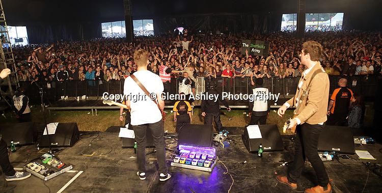 The Sherlocks performing at the Leeds Festival, United Kingdom on 26 August 2016. Photo by Glenn Ashley.