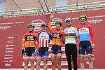 Boels-Dolmans Cycling Team at sign on before the start of the Ladies 2017 Strade Bianche running 127km from Siena to Siena, Tuscany, Italy 4th March 2017.<br /> Picture: Eoin Clarke   Newsfile<br /> <br /> <br /> All photos usage must carry mandatory copyright credit (&copy; Newsfile   Eoin Clarke)