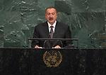 72 General Debate &ndash; 20 September <br /> <br /> <br /> <br /> His Excellency Ilham Heydar oglu Aliyev, President of the Republic of Azerbaijan