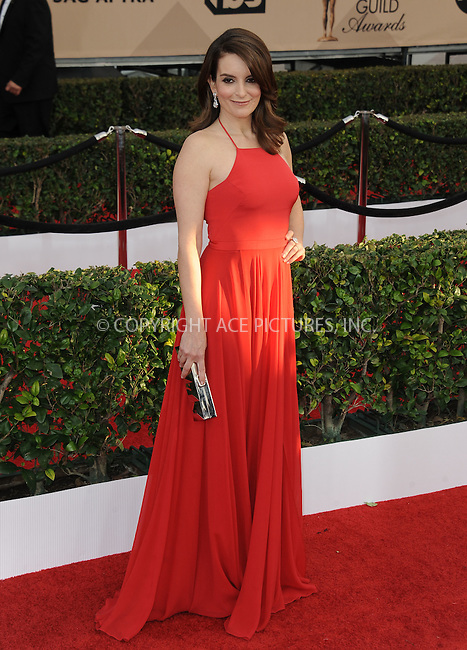 WWW.ACEPIXS.COM<br /> <br /> January 30 2016, LA<br /> <br /> Tina Fey arriving at the 22nd Annual Screen Actors Guild Awards at the Shrine Auditorium on January 30, 2016 in Los Angeles, California<br /> <br /> By Line: Peter West/ACE Pictures<br /> <br /> <br /> ACE Pictures, Inc.<br /> tel: 646 769 0430<br /> Email: info@acepixs.com<br /> www.acepixs.com