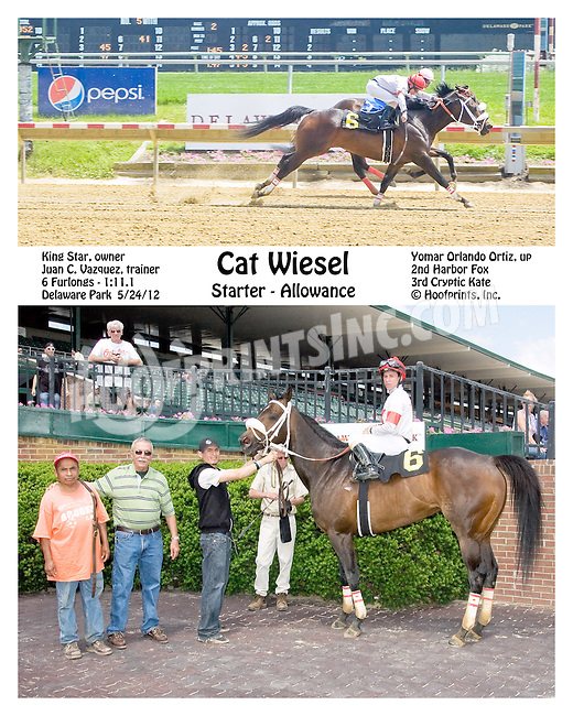 Cat Weisel winning at Delaware Park on 5/24/12