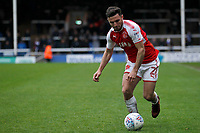 Lewis Coyle of Fleetwood Town in action during the Sky Bet League 1 match between Peterborough and Fleetwood Town at London Road, Peterborough, England on 28 April 2018. Photo by Carlton Myrie.