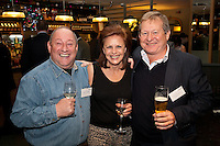Ken Grundy and Katie Stead of Hello Telecom with Keiran Armstrong (right) of Armstraong Mills