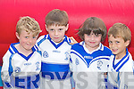 Enjoying the Castleisland Desmonds funday in Castleisland last Sunday were l-r: Kevin OMahony, Paul Walsh, Saoirse Casey and Conor Sullivan.