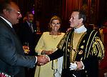 Roi Fouad II d'Egypte et Francis Huster apr&egrave;s  l&rsquo;&eacute;dition 2014 du spectacle historique de l&rsquo;Ommegang, a la Grand Place de Bruxelles.<br />  Belgique, Bruxelles, 03 juillet, 2014.