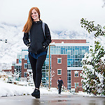 1611-44 083<br /> <br /> 1611-44 GCS Snow and Students<br /> <br /> November 29, 2016<br /> <br /> Photo by  Aaron Cornia/BYU/BYU<br /> <br /> Copyright BYU Photo 2014<br /> All Rights Reserved<br /> photo@byu.edu  (801)422-7322