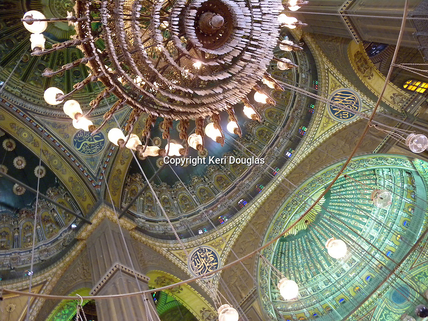 Ceiling of the Citadel, old Islamic Mosque, Cairo, Egypt
