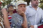 Judy Grummere waits for the start of a campaign rally with Republican Vice Presidential candidate Paul Ryan (R-WI) on Saturday, August 18, 2012 in The Villages, FL.