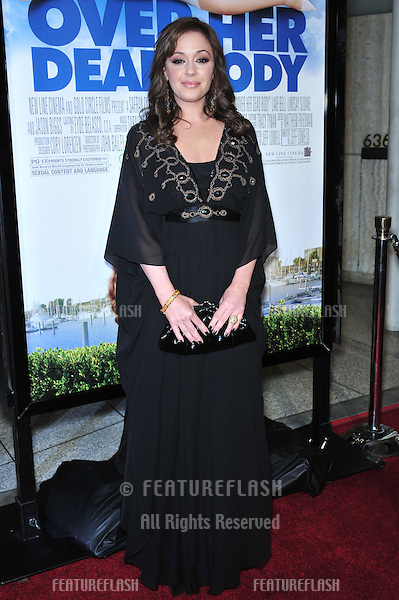 "Leah Remini at the Los Angeles premiere of ""Over Her Dead Body"" at the Arclight Theatre, Hollywood..January 29, 2008  Los Angeles, CA.Picture: Paul Smith / Featureflash"