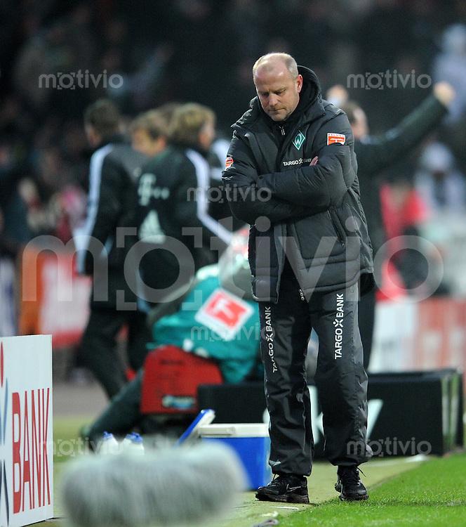 FUSSBALL   1. BUNDESLIGA   SAISON 2010/2010   20. Spieltag SV Werder Bremen - FC Bayern Muenchen              28.01.2011 Trainer Thomas SCHAAF (Bremen) enttaeuscht