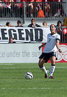 02 June 2013: U.S Women's National Soccer Team defender Christie Rampone #3 in action during an International Friendly soccer match between the U.S. Women's National Soccer Team and the Canadian Women's National Soccer Team at BMO Field in Toronto, Ontario.<br /> The U.S. Women's National Team Won 3-0.