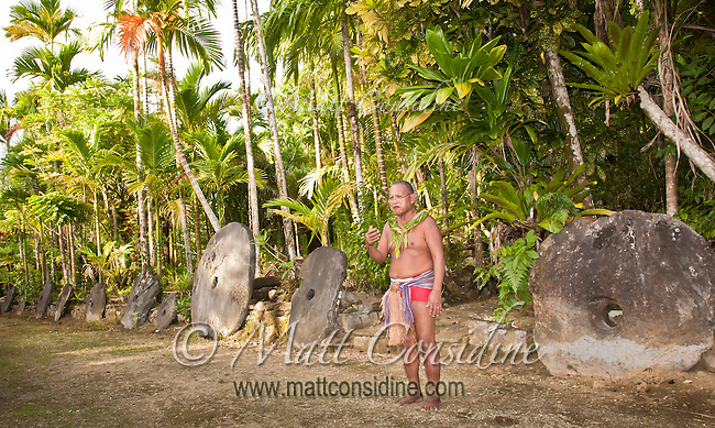 Village Chief explaining dance culture in Yap Micronesia.<br /> (Photo by Matt Considine - Images of Asia Collection)