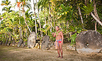 Village Chief explaining dance culture in Yap Micronesia. (Photo by Matt Considine - Images of Asia Collection)