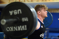 Nick Auterac of Bath Rugby in the gym. Bath Rugby pre-season training on July 28, 2017 at Farleigh House in Bath, England. Photo by: Patrick Khachfe / Onside Images