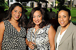 From left: Laura Whitley, Tameka Lord and Heidi Smith at the Five-A Spring Party at the Bayou Bend Collection & Gardens Monday April 25,2010.. (Dave Rossman Photo)