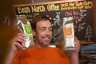Owner Michael King at Bean North Coffee Roasters in Whitehorse, Yukon