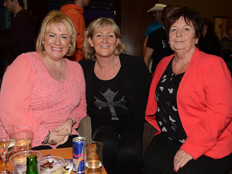 Helen Sweeney, Ann Devlin and Betty Devlin at the White Collar Boxing in City North Hotel. Photo:Colin Bell/pressphotos.ie