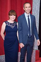 Karen Blick and James Hooton<br /> arriving for the British Soap Awards 2018 at the Hackney Empire, London<br /> <br /> ©Ash Knotek  D3405  02/06/2018