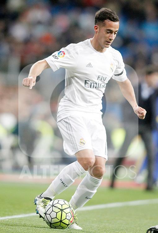 Real Madrid's Lucas Vazquez during La Liga match. April 20,2016. (ALTERPHOTOS/Acero)
