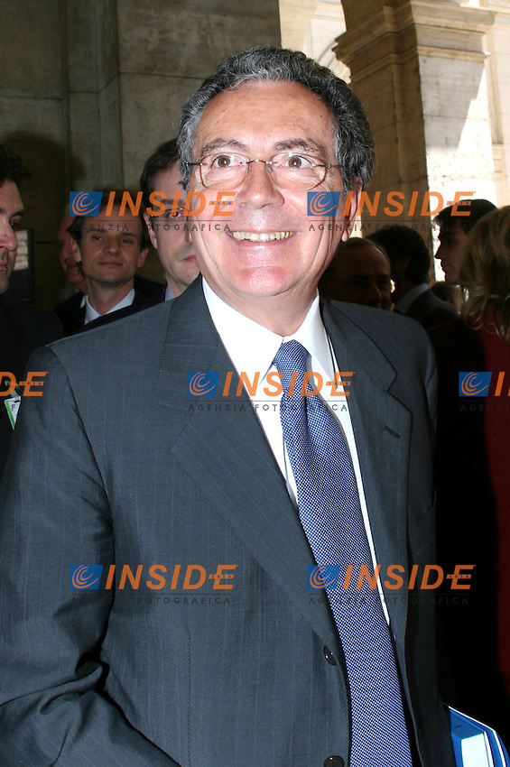 Roma 31-05- 2006 Assemblea Annuale della Banca D'Italia<br /> Nella foto Gian Maria Gros Pietro<br /> Photo Serena Cremaschi Insidefoto