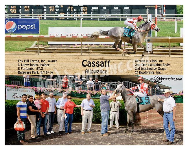 Cassatt winning at Delaware Park on 7/16/14