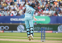 Joe Root (England) feet off the ground plays into the off side during Australia vs England, ICC World Cup Semi-Final Cricket at Edgbaston Stadium on 11th July 2019