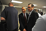 Rahm Emanuel leaves the witness stand in a basement Chicago Board of Elections conference room for a recess in his testimony at his residency hearing concerning his eligibility to run for mayor of Chicago in Chicago, Illinois on December 14, 2010.