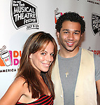Leslie Kritzer & Corbin Bleu.backstage at the New York Musical Theatre Festival at the NYMF Hub in Times Square, New York on 7/3/2012.