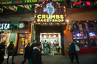 A Crumbs Bake Shop is seen in Times Square in New York on Thursday, November 24, 2011. The largest cupcake chain in the country, formerly known as 57th Street General Acquisition Corp., is planning to expand to 200 location by the year 2014. And you thought the cupcake craze was over!. (© Richard B. Levine)