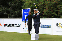 Dominic Foos (GER) on the 11th tee during Round 1 of the Northern Ireland Open at Galgorm Golf Club, Ballymena Co. Antrim. 10/08/2017<br /> Picture: Golffile | Thos Caffrey<br /> <br /> <br /> All photo usage must carry mandatory copyright credit (&copy; Golffile | Thos Caffrey)