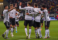celebrate the goal, Torjubel zum 2:1 von Serge Gnabry (Deutschland Germany) mit Ilkay Gündogan (Deutschland, Germany), Joshua Kimmich (Deutschland Germany), Jonas Hector (Deutschland Germany), Leon Goretzka (Deutschland, Germany)- 19.11.2019: Deutschland vs. Nordirland, Commerzbank Arena Frankfurt, EM-Qualifikation DISCLAIMER: DFB regulations prohibit any use of photographs as image sequences and/or quasi-video.