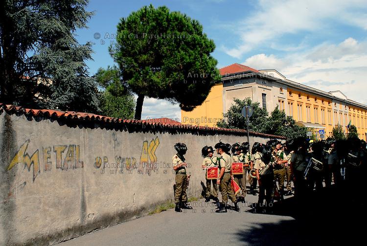 Castano Primo (MI), sfilata bersaglieri.<br /> Castano Primo (MI), military parade.