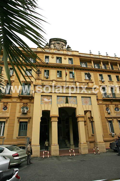 PICTURES BY SOLARPIX.COM.**MUST CREDIT SOLARPIX.COM OR DOUBLE FEE WILL BE CHARGED**.The trial of Scott Harrison the Scottish boxing champion in Spain today, the court case was held this morning at the Palacio de Justicia in Malaga with the attendance of Patricia Galvez and Jose Manuel Ortega the couple that Scott Harrison tried to steel their car, and one of the arresting police officers. Unfortunately Scott Harrison did not attend the hearing due to ill health and the case has been adjourned until March of this year..This pic:PALACIO DE JUSTICIA,JUSTICE COURT..DATE:02_02_07        JOB REF:3297-AB1