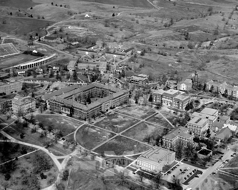 Campus Aerial in 1952 <br />