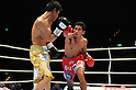 (L-R) Daiki Kameda (JPN), Tepparith Kokietgym (THA), DECEMBER 7, 2011 - Boxing : Tepparith Kokietgym of Thailand in action against Daiki Kameda of Japan during the WBA super flyweight title bout at Osaka Prefectural Gymnasium in Osaka, Osaka, Japan. (Photo by Mikio Nakai/AFLO)