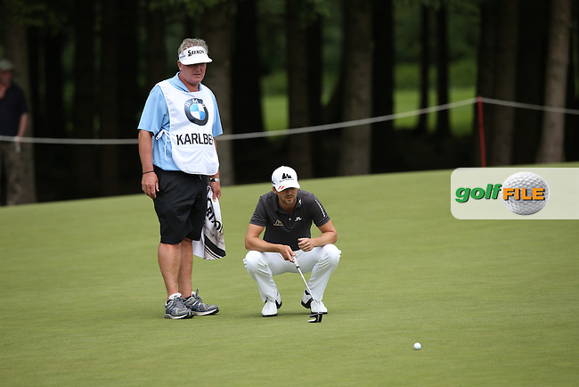 6-birdie lead thwarted by double bogeys on the 14th and 16th holes made an unhappy Rikard Karlberg (SWE) during Round One of the 2015 BMW International Open at Golfclub Munchen Eichenried, Eichenried, Munich, Germany. 25/06/2015. Picture David Lloyd | www.golffile.ie