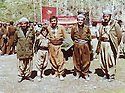 Iran 1980 <br /> In Zahle, during the celebration of ICP, from left to right, Ahmed Bane Kilani, Mullazem Omar Abdallah and Kemal Khoshnaw  <br /> Irak 1980 <br /> A Zahle, pendant la fete du parti communiste, de gauche a droite, Ahmed Bane Kilani, Mullazem Omar Abdallah et le Dr. Kemal Khoshnaw