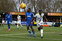 Lucas Akins of Burton Albion and Deji Oshilaja of AFC Wimbledon during AFC Wimbledon vs Burton Albion, Sky Bet EFL League 1 Football at the Cherry Red Records Stadium on 9th February 2019