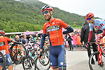 Vincenzo Nibali (ITA) Bahrain-Merida at sign on before Stage 17 of the 2019 Giro d'Italia, running 181km from Commezzadura (Val di Sole) to Anterselva / Antholz, Italy. 29th May 2019<br /> Picture: Gian Mattia D'Alberto/LaPresse | Cyclefile<br /> <br /> All photos usage must carry mandatory copyright credit (© Cyclefile | Gian Mattia D'Alberto/LaPresse)
