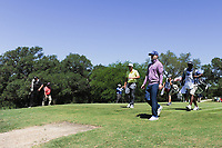 Brandon Grace (RSA) and Kevin Chappell (USA) depart the second tee box during round 4 of the Valero Texas Open, AT&amp;T Oaks Course, TPC San Antonio, San Antonio, Texas, USA. 4/23/2017.<br /> Picture: Golffile | Ken Murray<br /> <br /> <br /> All photo usage must carry mandatory copyright credit (&copy; Golffile | Ken Murray)
