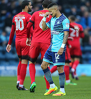 Paris Cowan-Hall of Wycombe Wanderers during the Sky Bet League 2 match between Wycombe Wanderers and Leyton Orient at Adams Park, High Wycombe, England on 17 December 2016. Photo by David Horn / PRiME Media Images.