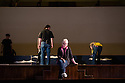 London, UK. 13.06.2013. Mimi Sherin, Lighting Designer, at work on Benjamin Britten's GLORIANA, at the Royal Opera House, Covent Garden, London. Photograph © Jane Hobson, 2013.