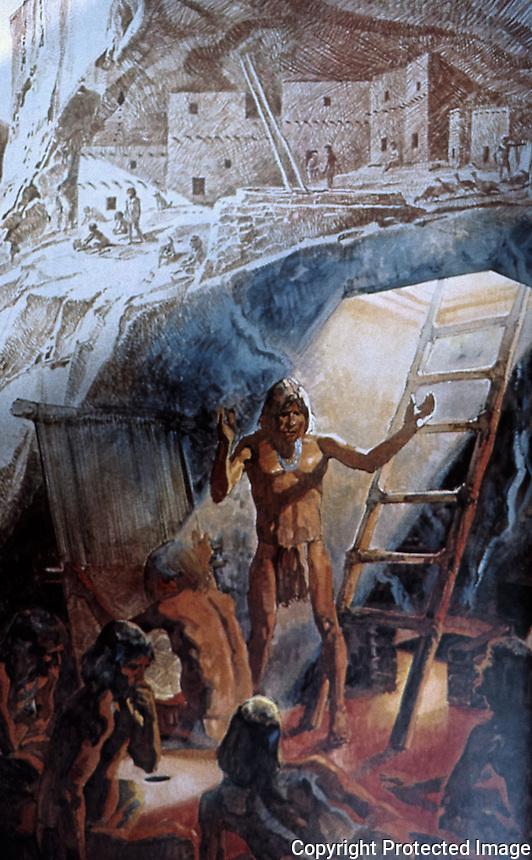 Anasazi:  Kiva Interior. Oct. '87.