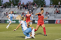 Boyds, MD - Saturday June 03, 2017:  Rachel Daly, Estelle Johnson during a regular season National Women's Soccer League (NWSL) match between the Washington Spirit and the Houston Dash at Maureen Hendricks Field, Maryland SoccerPlex