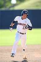 Matt Gelalich #5 of the Pepperdine Waves runs the bases during a game against the Tulane Green Wave at Eddy D. Field Stadium on March 13, 2015 in Malibu, California. Tulane defeated Pepperdine, 9-3. (Larry Goren/Four Seam Images)